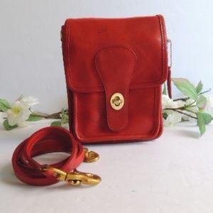 Rare Vintage Coach Red Slim Pouch Bag